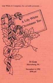 A Lily White Christmas Too program – December 4, 1992