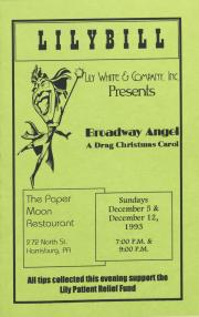 """Broadway Angel: A Drag Christmas Carol"" Program - December 5 and 12, 1993"