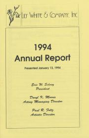 Lily White and Company Annual Report - January 13, 1994