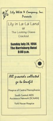 """Lily in La-La Land, or the Looking Glass Cracked"" Flyer - July 24, 1994"