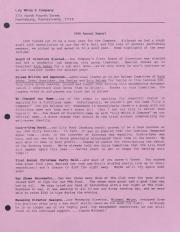 Lily White & Company Annual Report - 1990