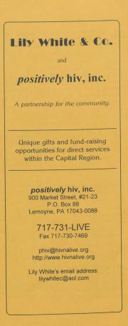 """Lily White and Company and Positively HIV, Inc."" Brochure - circa 1990"