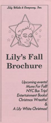 Lily's Fall Brochure - 1996