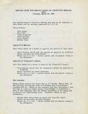 Lily White & Company Board of Directors Meeting Minutes - 1990