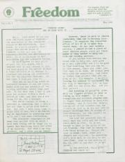 MCC Freedom Newsletter - May 1982