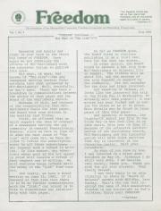 MCC Freedom Newsletter - Jun 1982