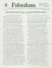 MCC Freedom Newsletter - September 1982