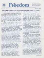 MCC Freedom Newsletter - October 1982