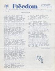 MCC Freedom Newsletter - February 1983