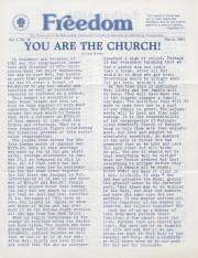 MCC Freedom Newsletter - March 1983