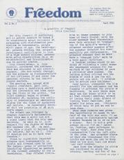 MCC Freedom Newsletter - April 1983
