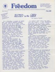 MCC Freedom Newsletter - June 1983