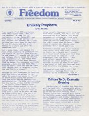 MCC Freedom Newsletter - April 1984