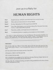 Northeast Pennsylvania Gay Alliance (NEPGA) Human Rights Rally Flyer - September 24, 1978