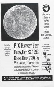 Pink Triangle Coalition Harvest Fest Flyer - October 23, 1992