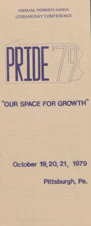 Pride '79 Brochure and Registration - October 19 - 21, 1979