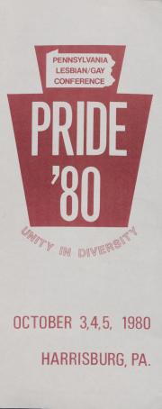 Pride '80 Brochure and Registration - October 3 - 5, 1980