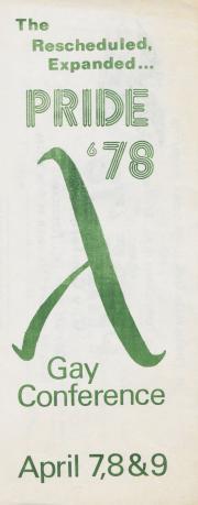 Rescheduled Pride '78 Brochure and Registration - April 7 - 9, 1978