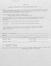 Pride '82 Exhibit Information Form - August 27 - 29, 1982