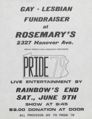 Pride '79 Fundraiser Flyer - June 9, 1978