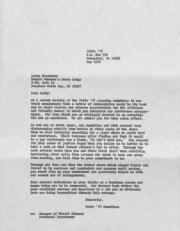 Pride '78 Committee Letter to Howard Johnson's Motor Lodge - May 1978