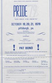 Pride '79 Poster - October 19 - 21, 1979