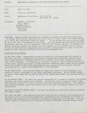 PA Rural Gay Caucus Legislative Committee Minutes - April 24, 1976