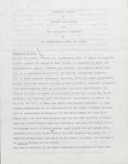 PA Rural Gay Caucus Legislative Committee Report - 1976