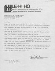 PA Rural Gay Caucus Letter - circa October 1976