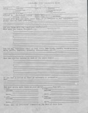 PA Rural Gay Caucus Legislator Visit Evaluation Sheet - 1976