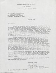 PA Rural Gay Caucus Letter - April 2, 1977