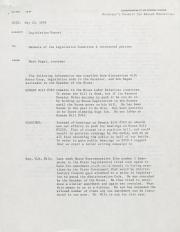 PA Rural Gay Caucus Legislation Report - May 25, 1976