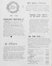 GSH Newsletter - January 1981