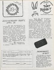 GSH Newsletter - March 1981