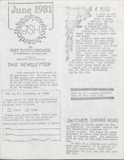 GSH Newsletter - June 1981