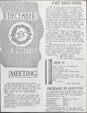 GSH Newsletter - December 1981