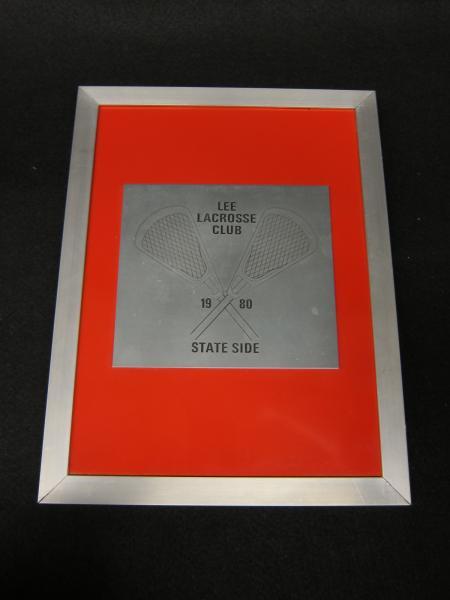 Lacrosse Team Plaque, 1980