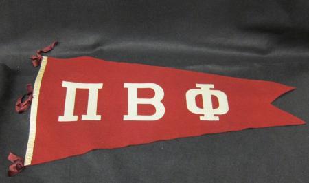 Red Felt Pi Beta Phi Pennant