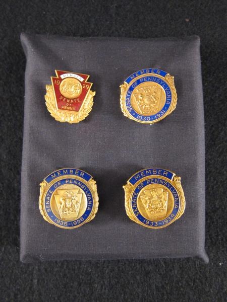 Pennsylvania State Senate pins (4), c.1929-1936