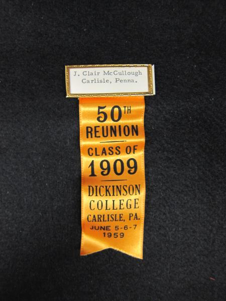 Class of 1909 50th Reunion Pin and Ribbon, 1959