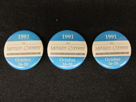 Metzger-Conway Series Buttons (3), 1991