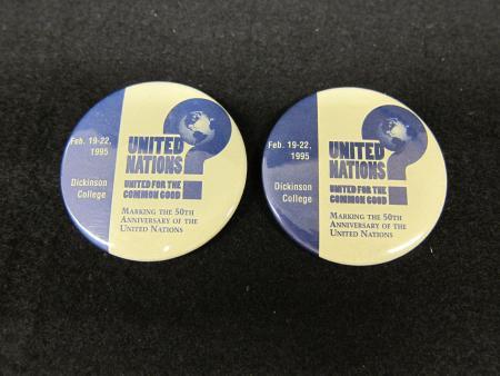 Public Affairs Symposium buttons (13), 1987-1995