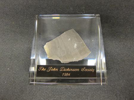 John Dickinson Society Paperweight, 1984