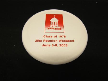 Class of 1978 Frisbee, 2003