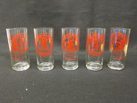 Glasses with College Crest and Red Devil (5)