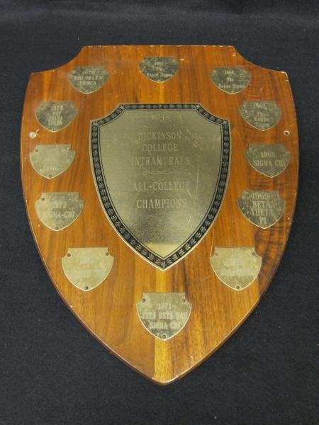 All-College Champions Intramural Plaque, 1965-1976