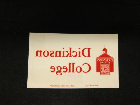 Dickinson 225th Anniversary Decal, 1998
