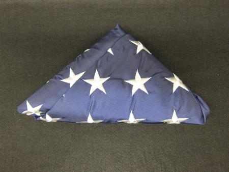 Folded American Flag Front