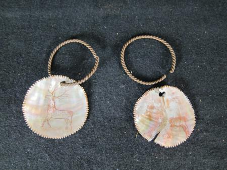 Pair of Large Shell Earrings, c.1890