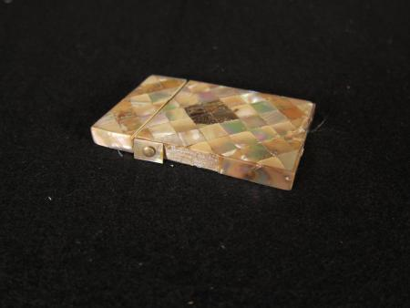 Mother of Pearl Card Case, 1887